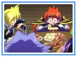 Slayers Cast Eating - Dinner