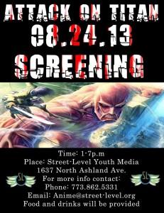 Attack on Titan Screening